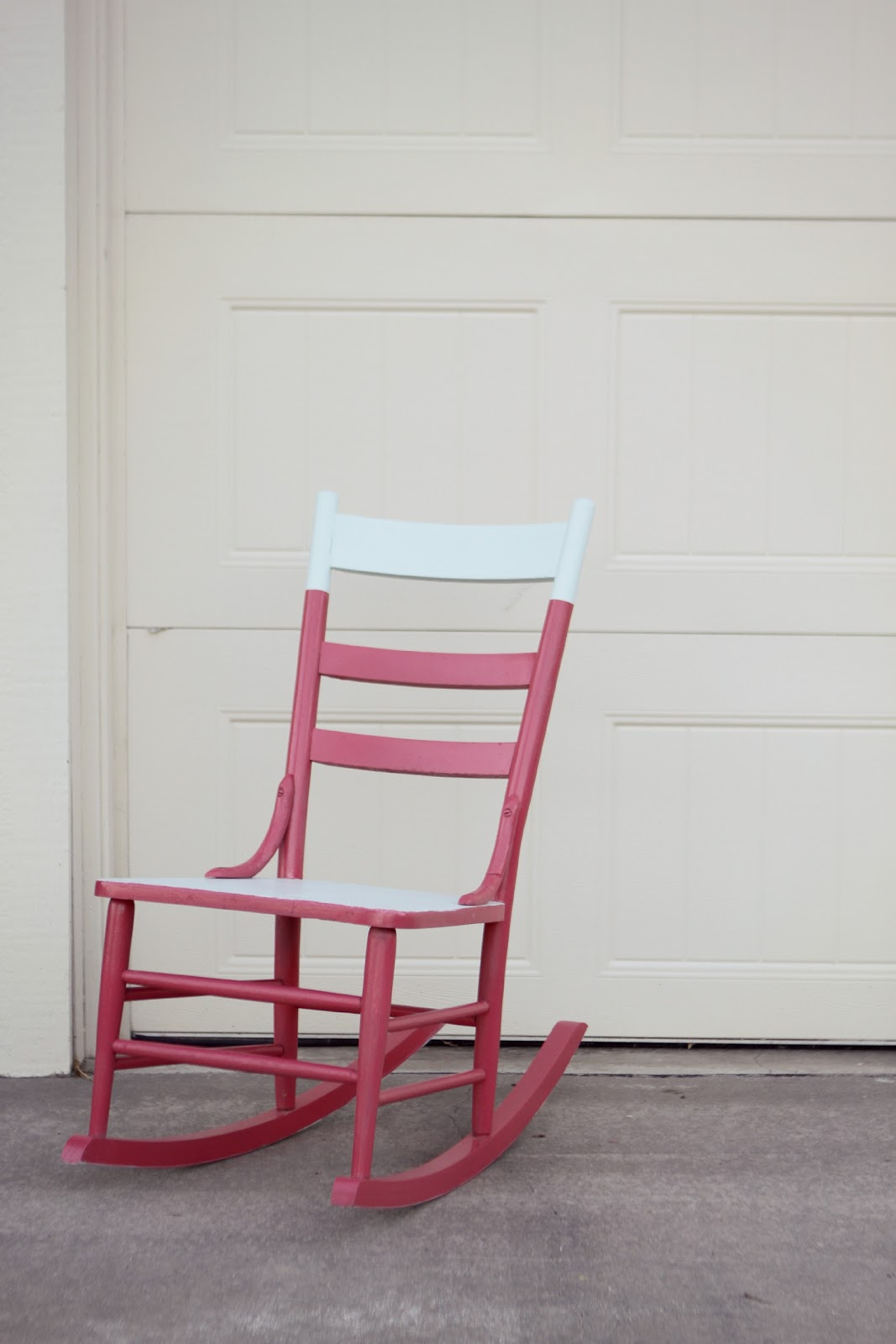 Little Red Rocking Chair ~ The little red chair rocker before and after