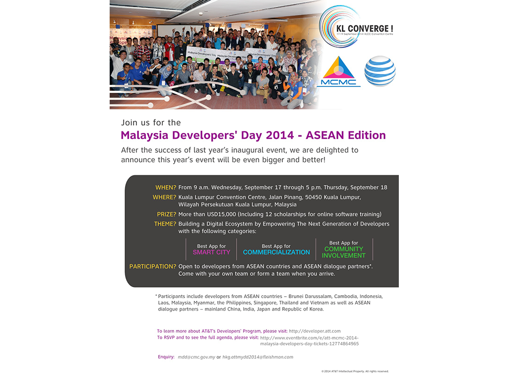 Malaysia Developers' Day 2014 - ASEAN Edition: Building A Digital Ecosystem Across Asia