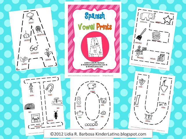 Bilingual Teacher Clubhouse: Spanish Vowel Prints