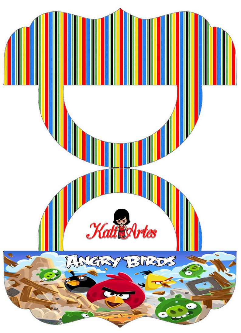 Angry Birds: Etiquetas para Bolsas de Golosinas para Imprimir Gratis.