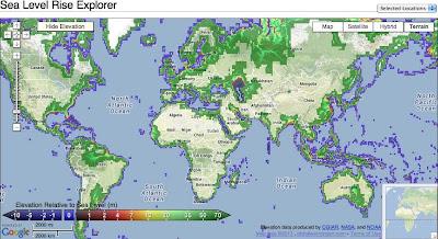 Maximizing Progress: Sea Level Rise Explorer ~ Map of Coastal Risk