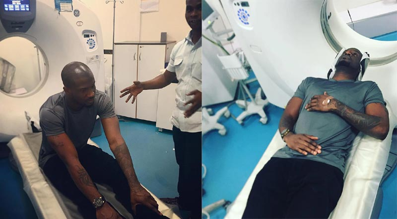 "Psquare's Peter Okoye Hits The Hospital For CT Scan, Says ""Pray For Me"" (Photos)"