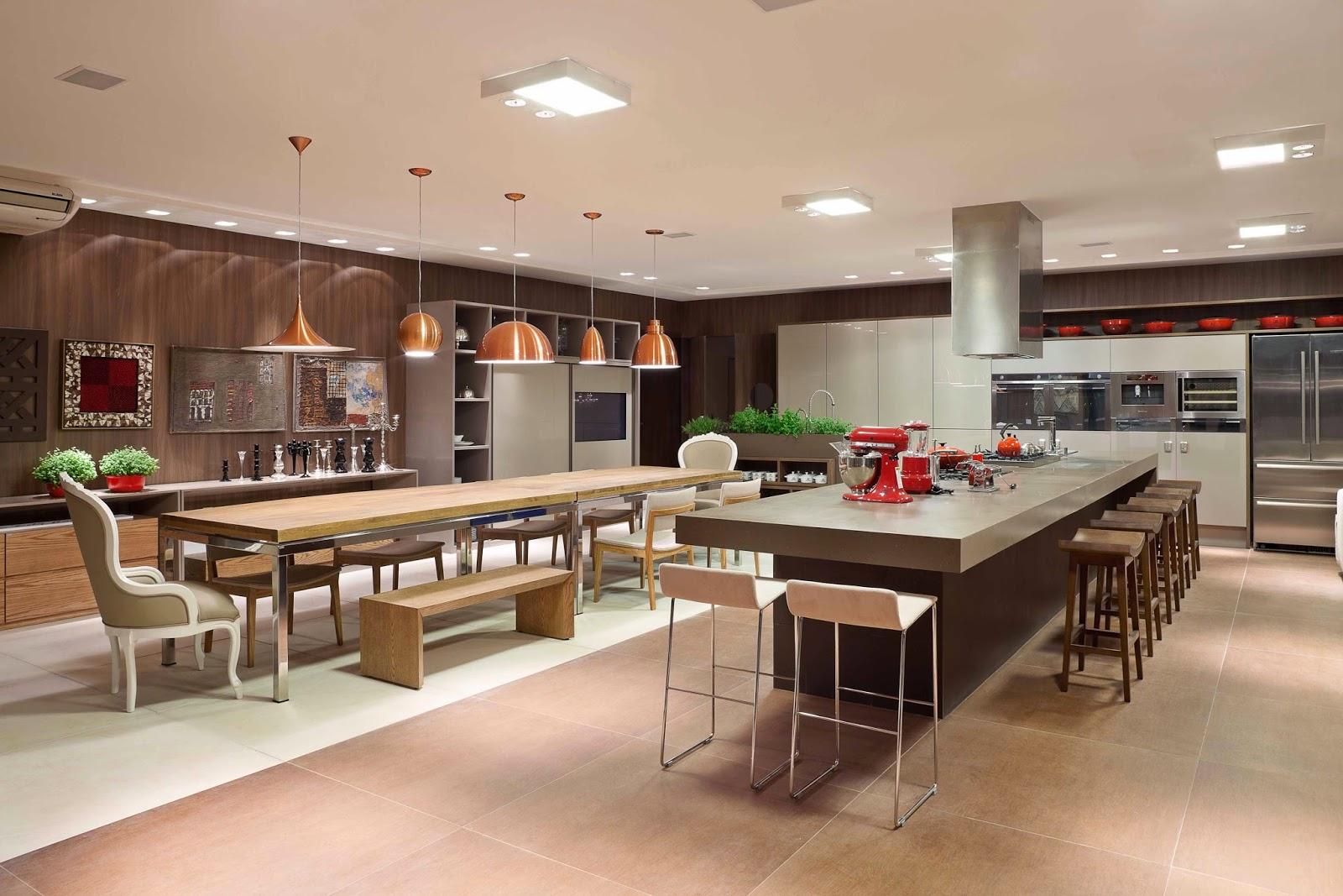 Construindo Minha Casa Clean Decora O De Salas De Jantar Com  -> Lustres Pendentes Para Sala De Jantar Pequena
