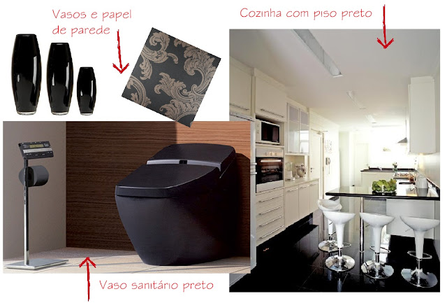 vaso sanitário preto