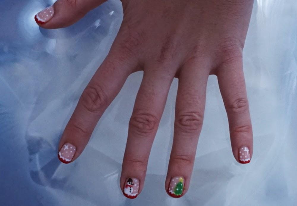 manicura navideña