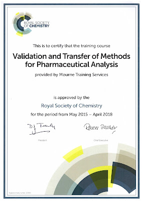 MTS Course approved by Royal Society of Chemistry