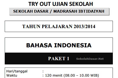 Download kumpulan soal US SD/MI: Bahasa Indonesia, Matematika, dan IPA.