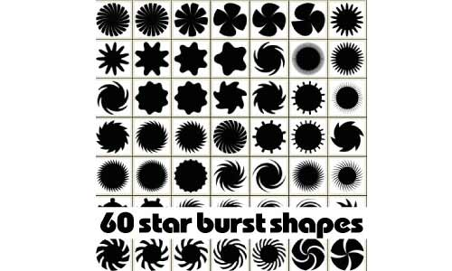Star burst custom shapes