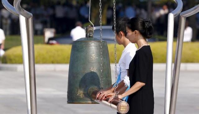 Peringatan 70 tahun serangan bom atom di Hiroshima