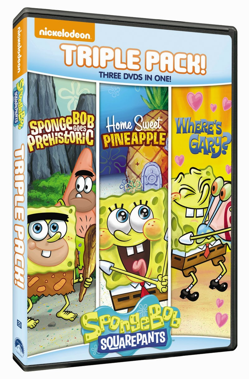 Want To Win The Spongebob Triple Pack Dvd Enter The Giveaway