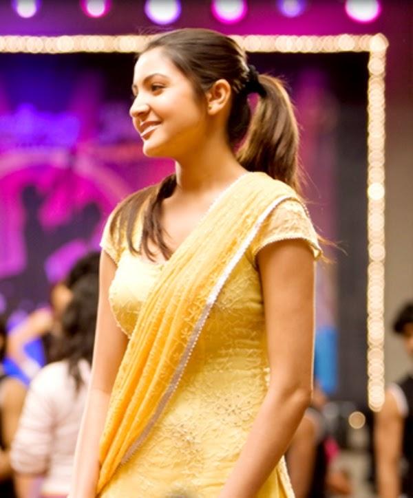 Anushka Sharma In yellow Mini Skirt and other Hot Pics HD Stills from rab ne bana di jodi