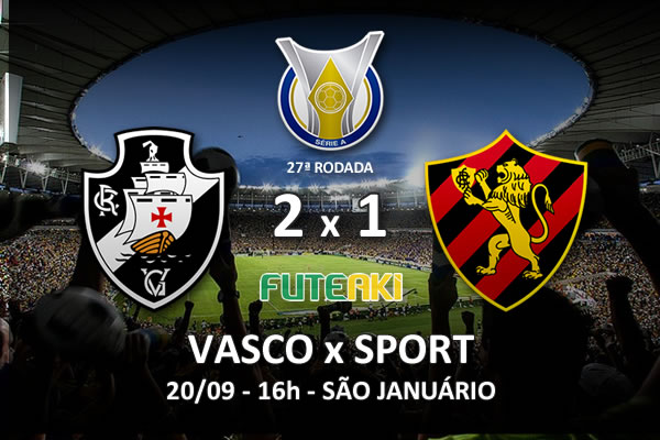 Veja o resumo da partida com os gols e os melhores momentos de Vasco 2x1 Sport pela 27ª rodada do Brasileirão 2015.