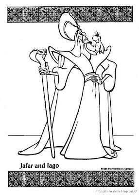 Aladdin disegno colorare