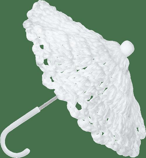 paraguas blanco romántico