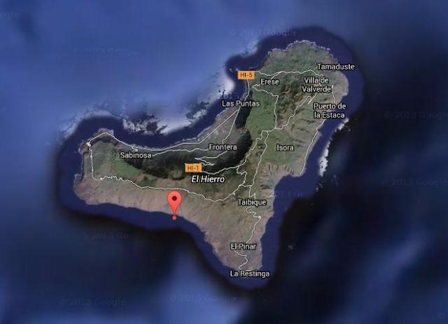 terremoto sentido el hierro 7 noviembre, frontera, el pinar