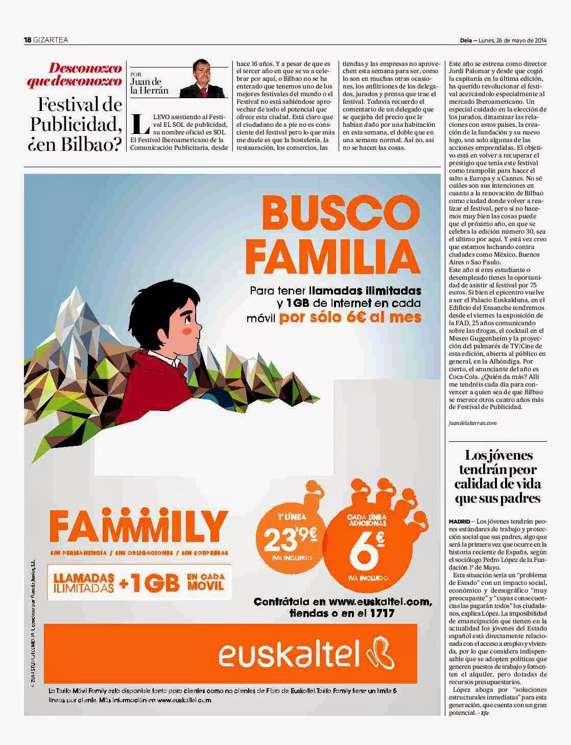 Festival de Publicidad, ¿en Bilbao?