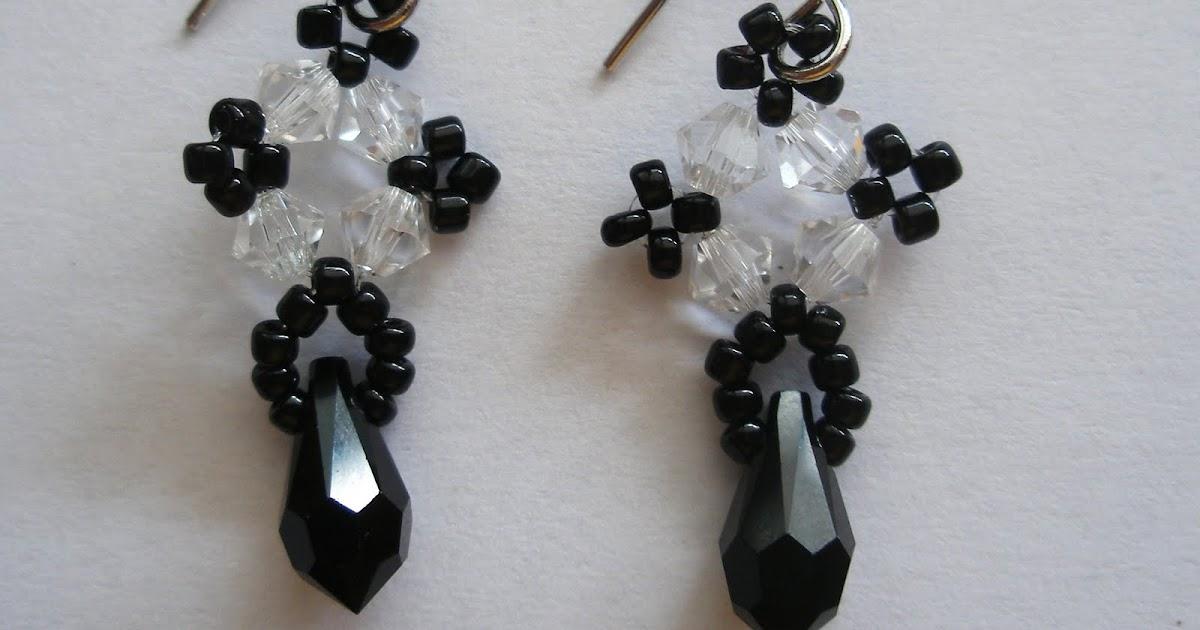 darlovely: How to make Black Teardrop Earrings