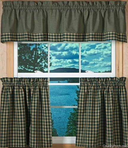 Country Kitchen Window Curtains Ideas