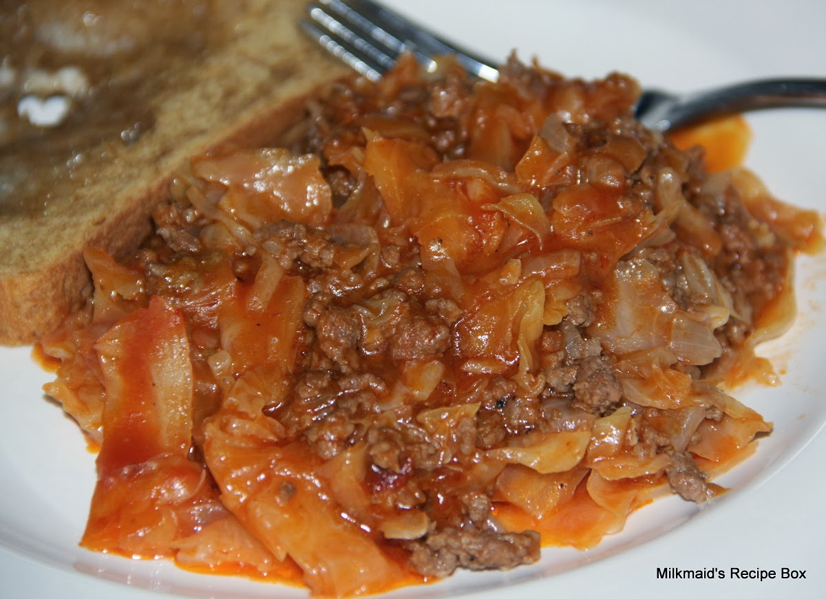 Cedric's Casserole (Cabbage, Onions, Ground Beef, Soup)