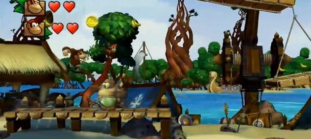 Screenshot of Wii U game Donkey Kong Country: Tropical Freeze