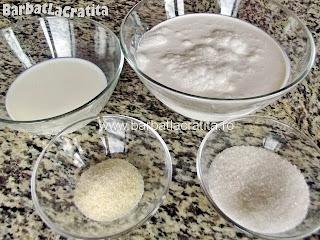 Panna cotta (budinca italieneasca) - toate ingredientele retetei