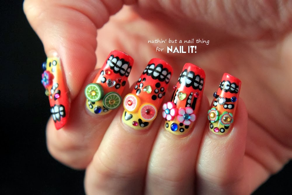 Nuthin but a nail thing nail it magazine mexican sugar skull nail it magazine mexican sugar skull nail art tutorial prinsesfo Image collections
