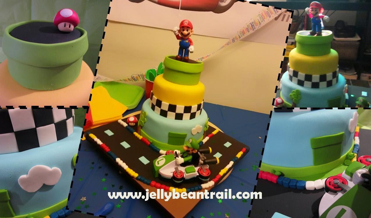 Mario Kart Cake Tie Dye Cake