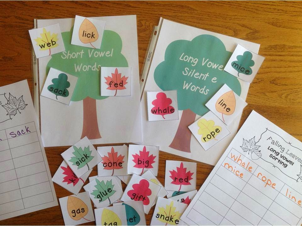 Short and Long Vowel Leaf Sorting