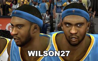 NBA 2K13 Denver Nuggets Cyber Face Pack