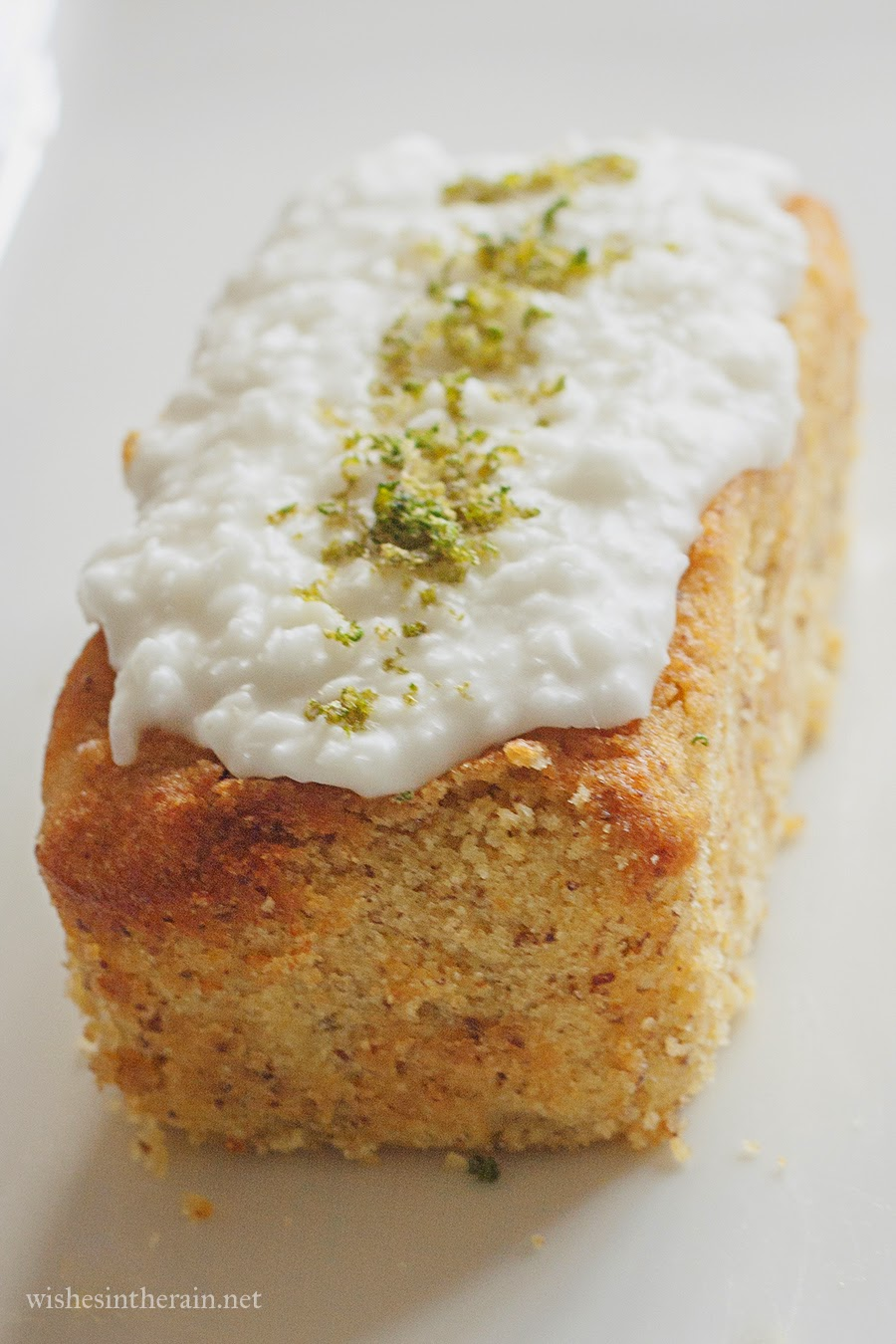 Lemon Bluberry Polenta Cake Gluten Free