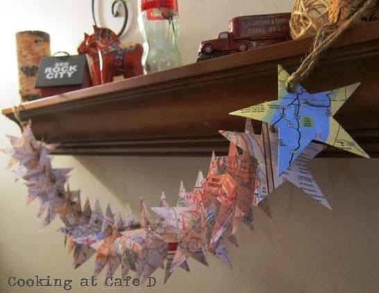 travel map DIY Christmas Garland