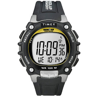 "Timex T5E231, Men's ""Ironman"" Triathlon 100-Lap Resin Watch, 5 Alarms, T5E2319J"