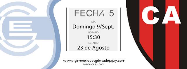 Fecha 5: Gimnasia de Jujuy vs Patronato