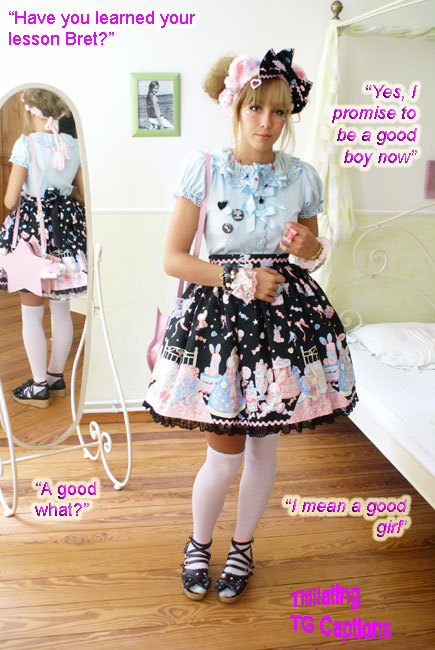 stood before her in the sissy-girl clothes she had forced him to wear