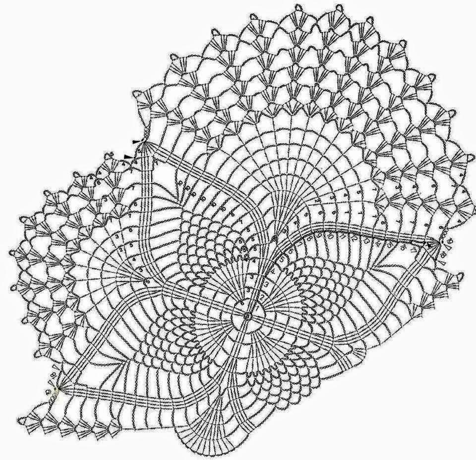 схемы салфетки вязанные крючком