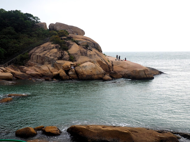 The Reclining Rock by the ocean on Cheung Chau Island, Hong Kong