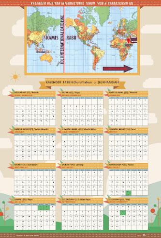 Kalender Pengamalan Ibadah Untuk Wilayah Istikmal (Sebelah Timur Dari Mekah)