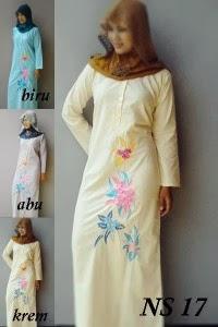 Baju gamis katun jepang ns17 toko online mbs Toko baju gamis bahan katun jepang