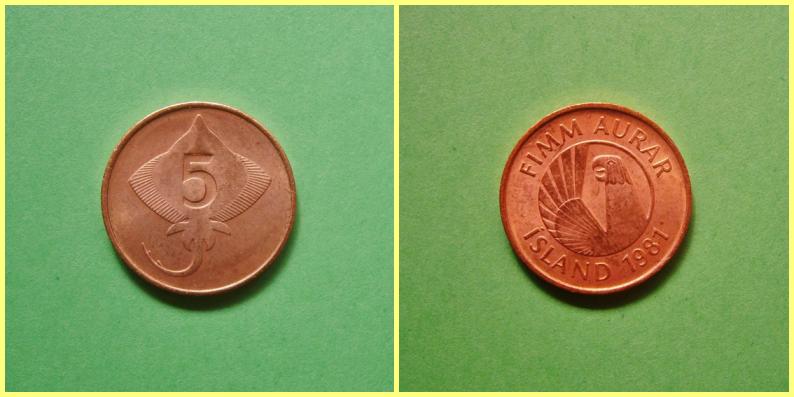 Moneda 0.05 Coronas Islandia