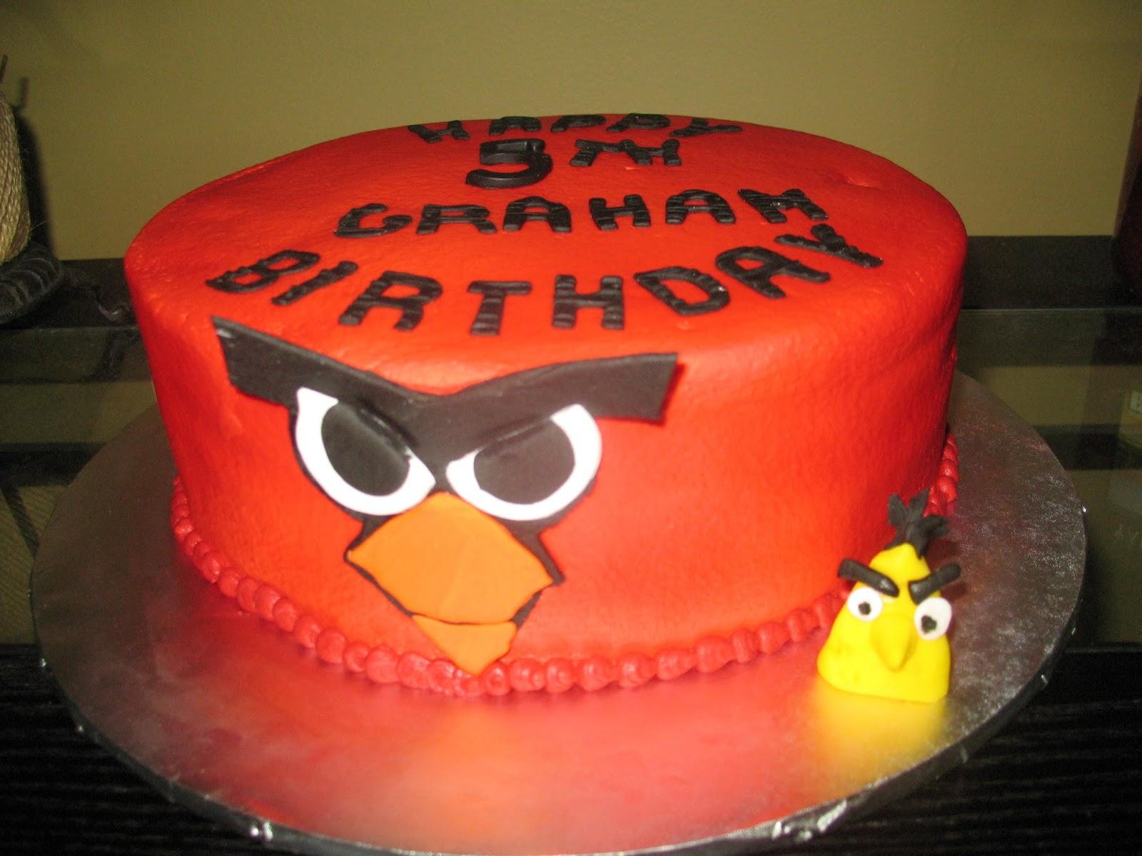 Angry Bird Birthday Cake Cakes By Mary Ann