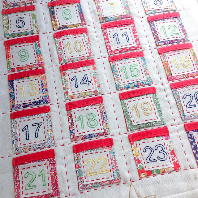 Liberty Advent Calendar Running Stitch Feature