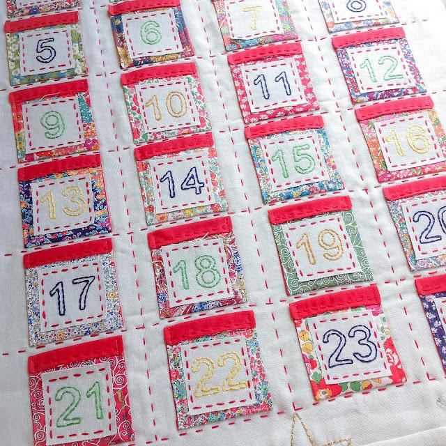 Liberty Advent Calendar Running Stitch Feature