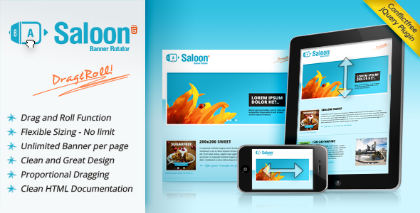Image for Saloon – The jQuery Banner Rotator Plugin by CodeCanyon