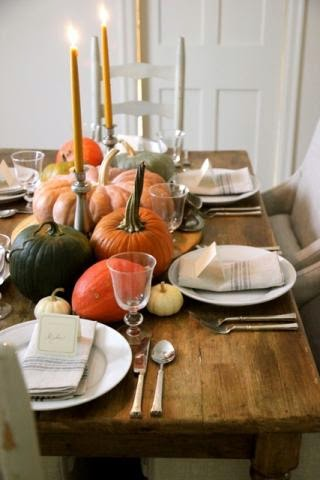 Pumpkins u0026 Gourds Harvest Table Setting for Thanksgiving & Jenny Steffens Hobick: Pumpkins u0026 Gourds Harvest Table Setting for ...