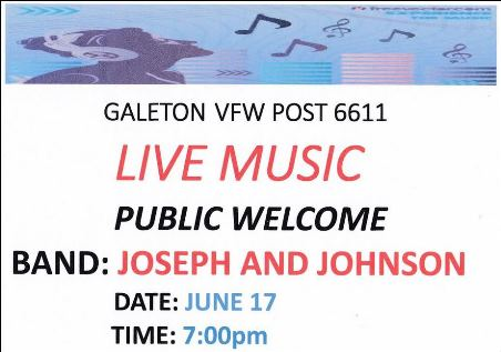 6-17 Galeton VFW Live Music