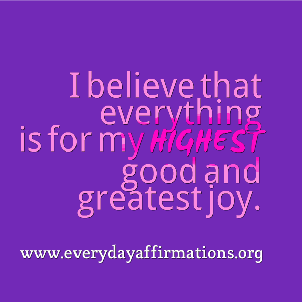 Affirmations for Health, Daily Affirmations 2014