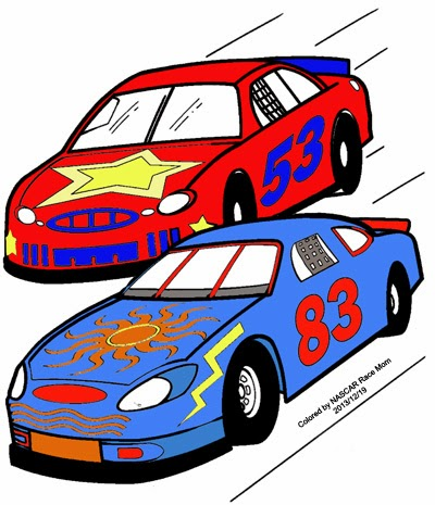 nascar coloring page for kids