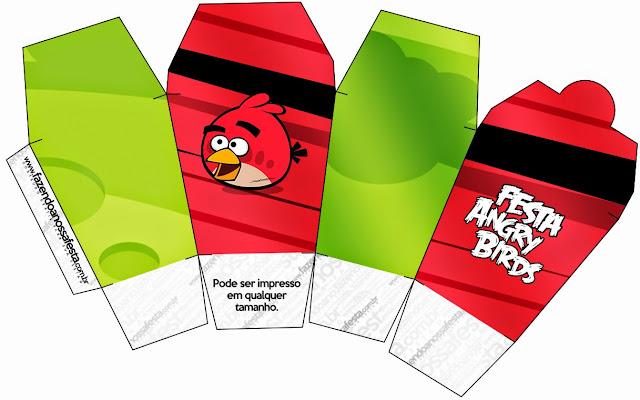 "Caja tipo ""de comida china""de Angry Birds."