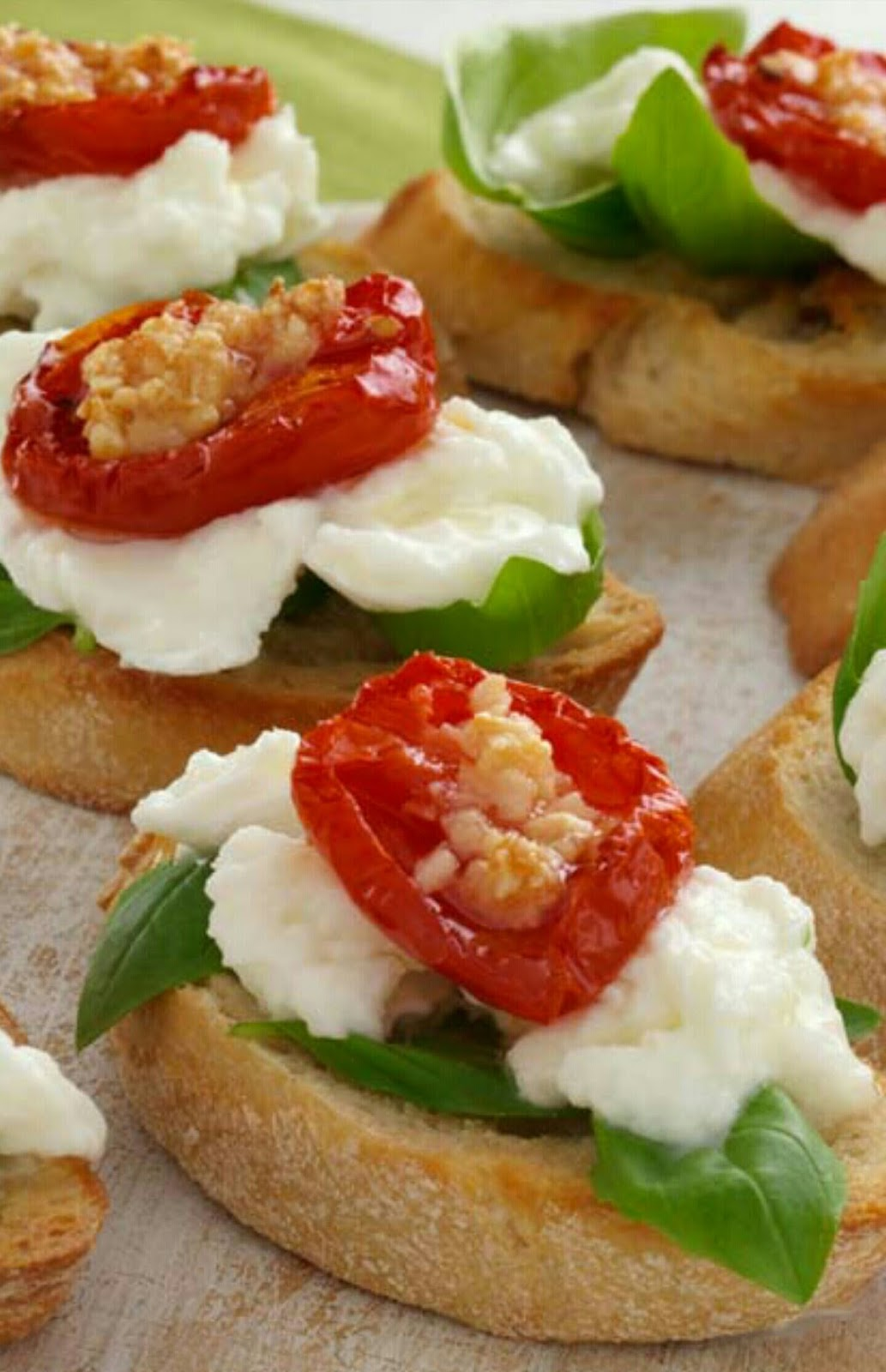 Roasted Tomato And Fresh Mozzarella Bruschetta Recipes — Dishmaps