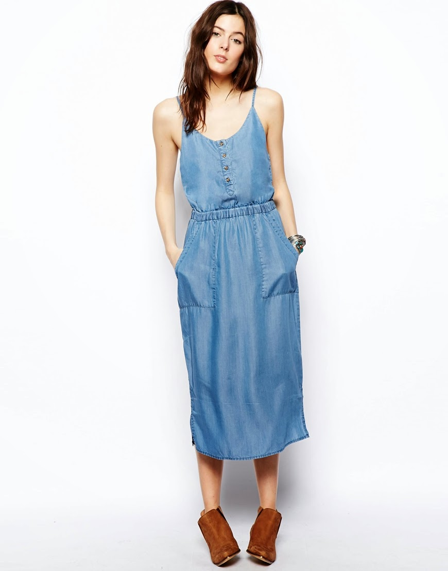 asos denim dress